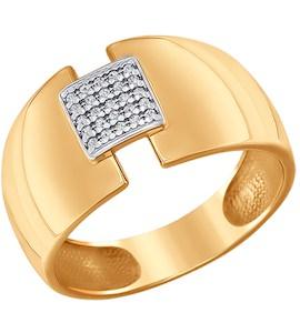 Кольцо из золота с фианитами 016631