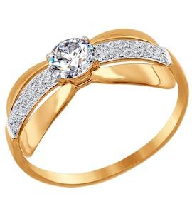 Кольцо из золота с фианитами 016651