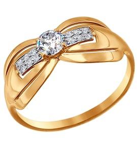 Кольцо из золота с фианитами 016652