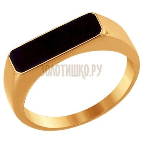 Печатка из золота с эмалью 016717