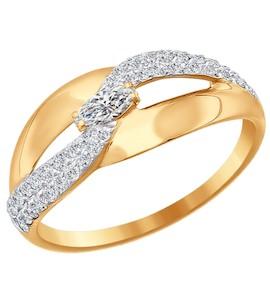 Кольцо из золота с фианитами 016730