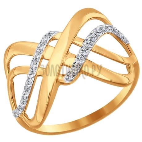 Кольцо из золота с фианитами 016770