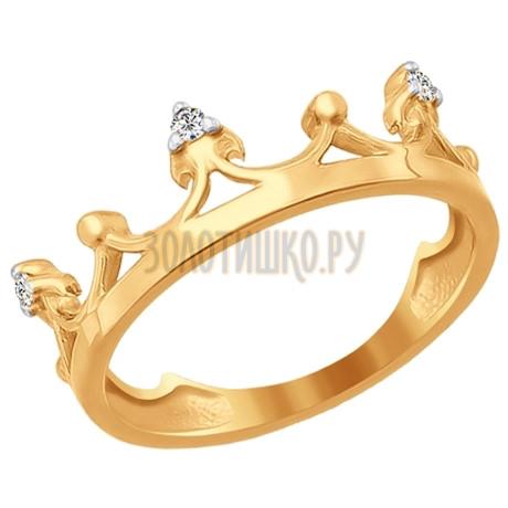 Кольцо из золота с фианитами 016779
