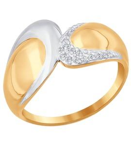 Кольцо из золота с фианитами 016858