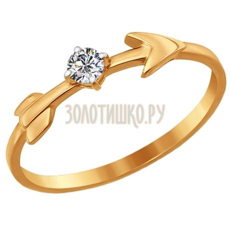Кольцо из золота с фианитом 016890