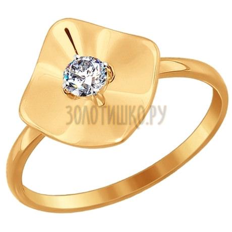 Кольцо из золота с фианитом 016956