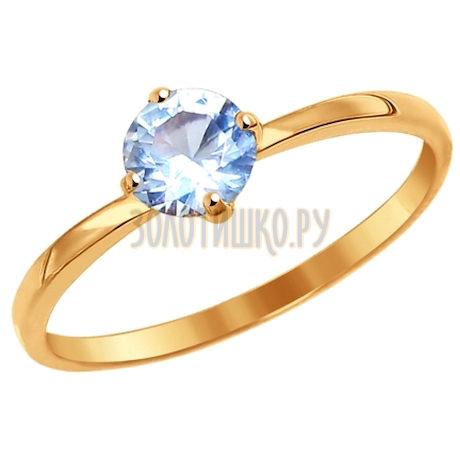 Кольцо из золота с фианитом 016964