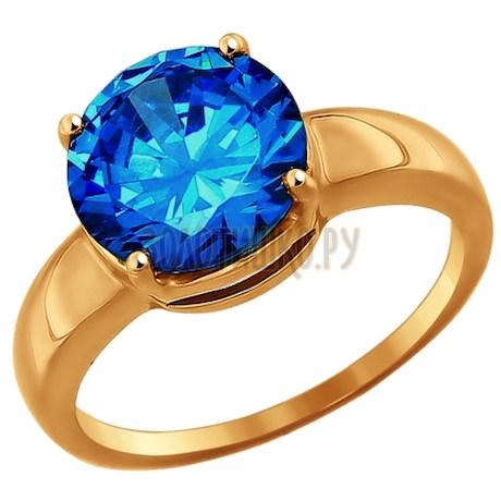 Кольцо из золота с фианитом 016984