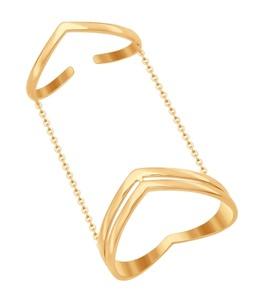 Кольцо на две фаланги из золота 017061
