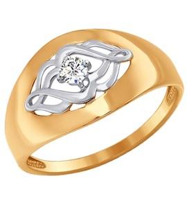 Кольцо из золота с фианитом 017064