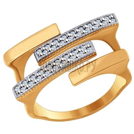 Кольцо из золота с фианитами 017082