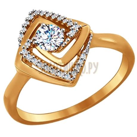 Кольцо из золота с фианитами 017095