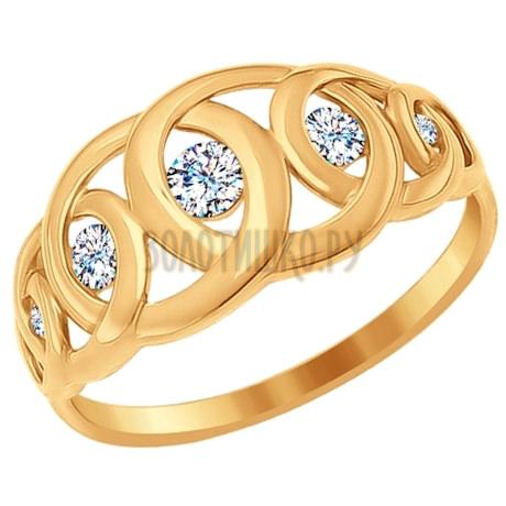 Кольцо из золота с фианитами 017109