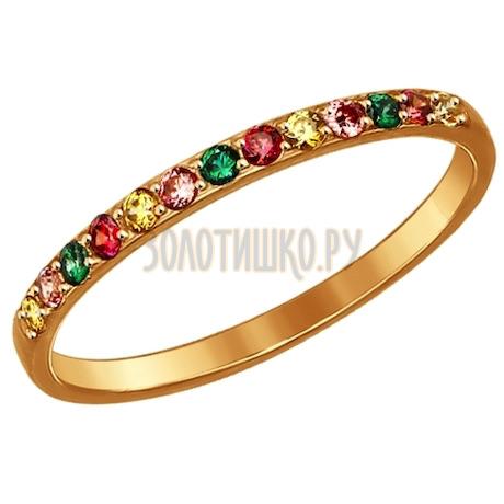 Кольцо из золота с фианитами 017161