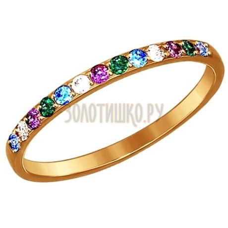 Кольцо из золота с фианитами 017162