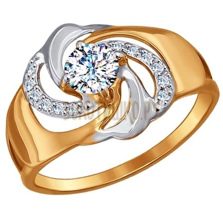 Кольцо из золота с фианитами 017188