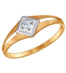 Кольцо из золота с фианитом 017199