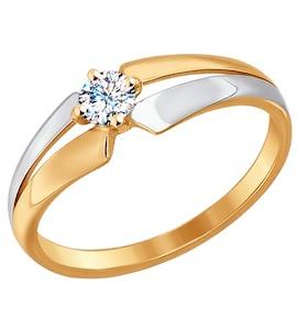 Кольцо из золота с фианитом 017205