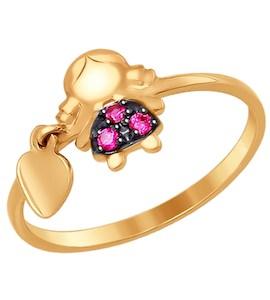 Кольцо «Девочка» из золота с фианитами 017239
