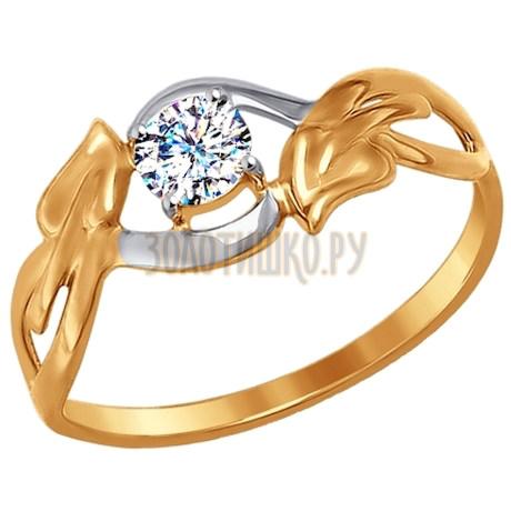 Кольцо из золота с фианитом 017262