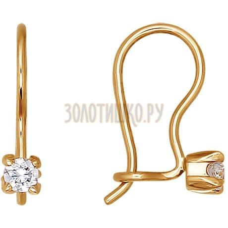 Серьги из золота с фианитами 020596