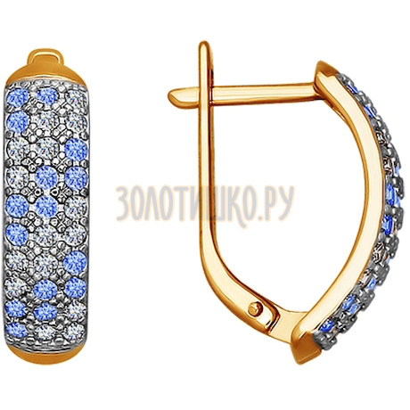 Серьги из золота с фианитами 021206