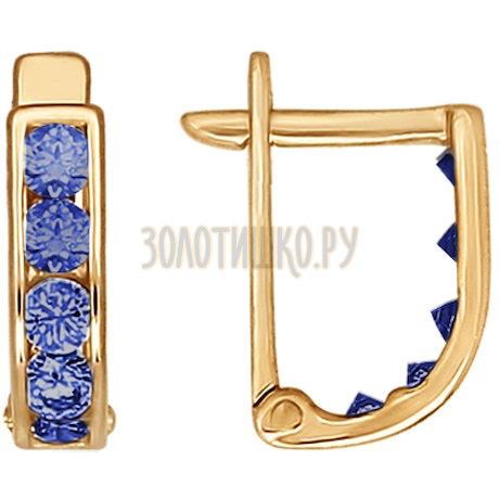 Серьги из золота с фианитами 021500