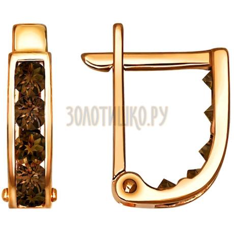 Серьги из золота с фианитами 021864