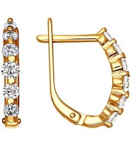 Серьги из золота с фианитами 025341