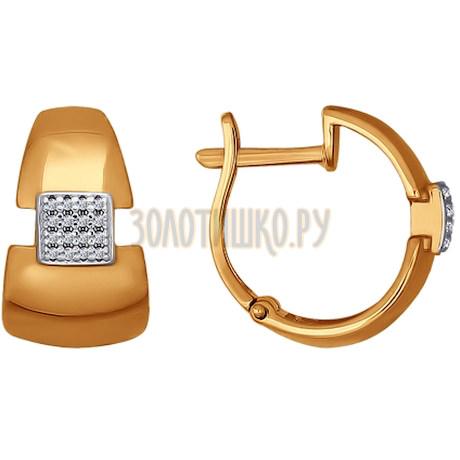 Серьги из золота с фианитами 026541