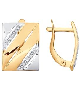 Серьги из золота с фианитами 026757