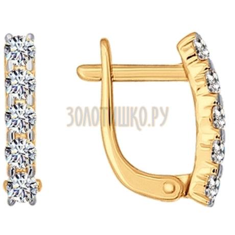 Серьги из золота с фианитами 026808