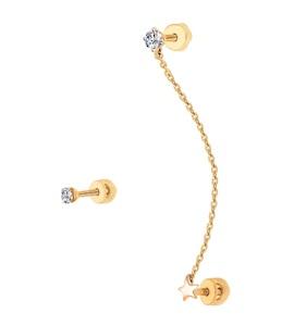 Серьги из золота с фианитами 027029