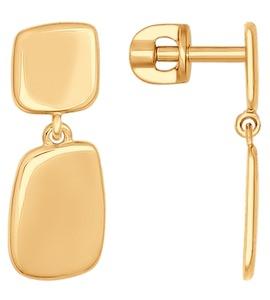 Серьги из золота 027059