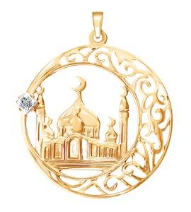 Мусульманская подвеска из золота 034445