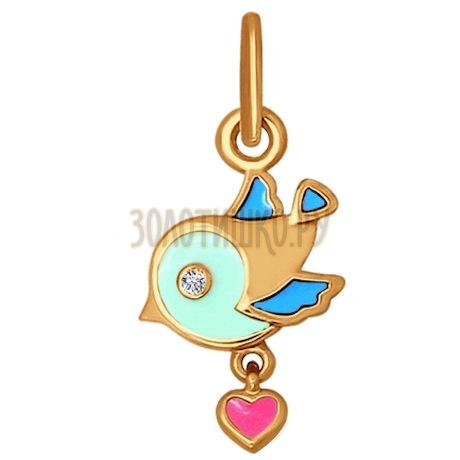 Детская подвеска с птичкой 034769