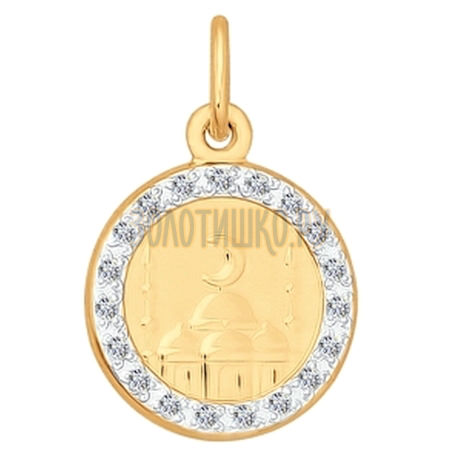 Подвеска из золота с фианитами 034847