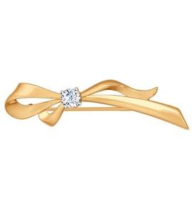 Брошь - булавка из белого золота 040146