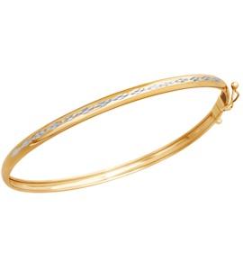 Браслет жёсткий из золота с алмазной гранью 050287
