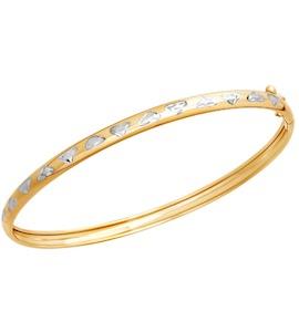 Браслет жёсткий из золота с алмазной гранью 050291