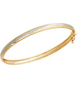 Браслет жёсткий из золота с алмазной гранью 050366