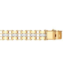 Классический мужской браслет с алмазной  гранью 050645