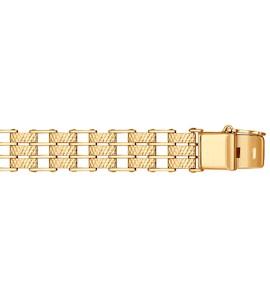 Мужской браслет с алмазной гранью 050646