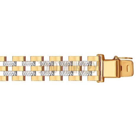 Браслет из золота с алмазной гранью 050649
