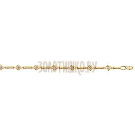Браслет из золота с фианитами 050858