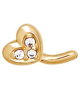 Золотое украшение для пирсинга носа 060175