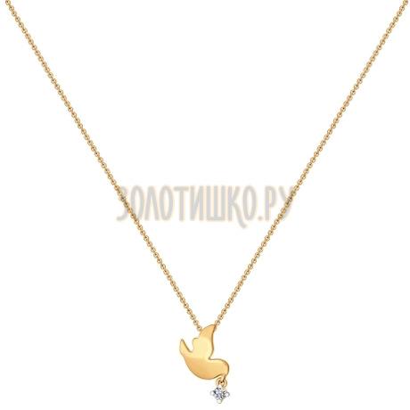 Колье из золота с фианитом 070242
