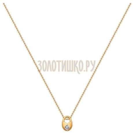 Колье из золота с фианитом 070243