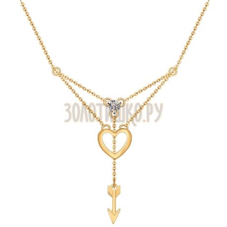 Колье из золота с фианитом 070247