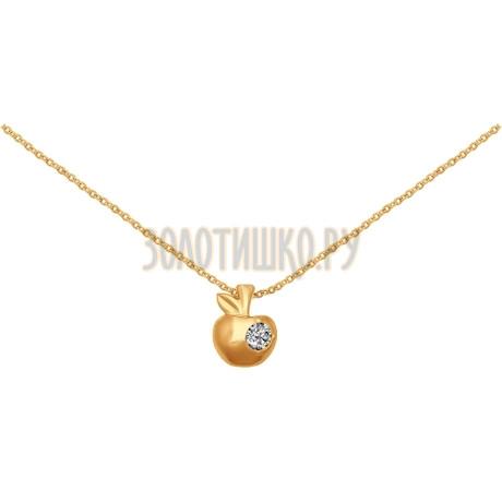 Колье из золота с фианитом 070248